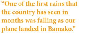 One of the first rains